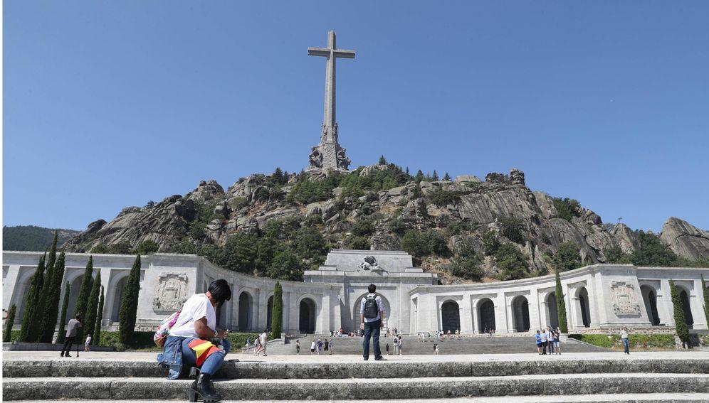 Foto: Vista general del Valle de los Caídos, el 24 de agosto pasado, cuando el Gobierno aprobó el real decreto ley de exhumación de Franco. (EFE)
