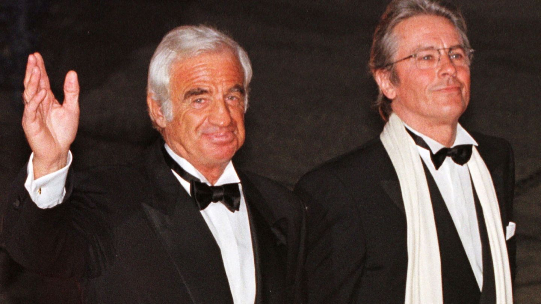 Belmondo y Alain Delon. (Reuters)