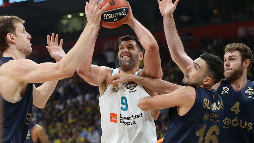 Foto: Felipe Reyes en la final de la Final Four. (EFE)