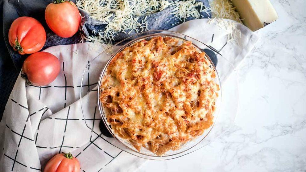 Receta clásica: macarrones gratinados con tomate y chorizo