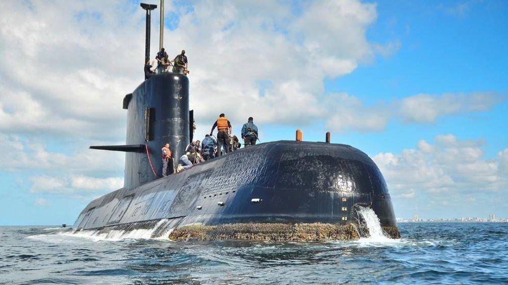 Foto: El submarino ARA San Juan en una foto de archivo.