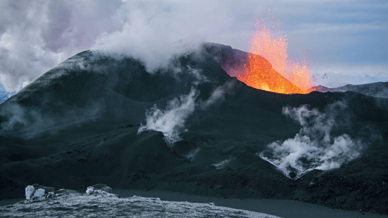 Erupción del volcán Eyjafjallajökull en 2010. (iStock)