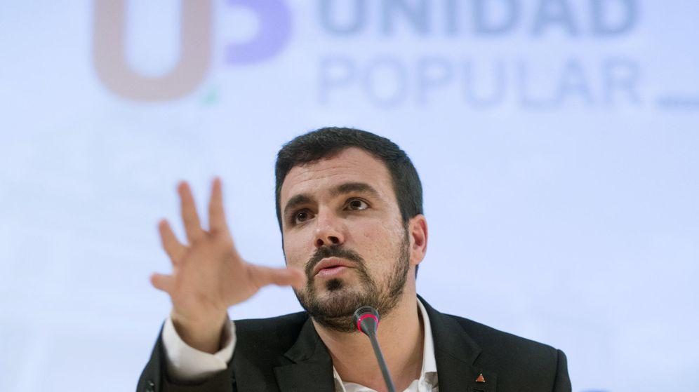 Foto: Alberto Garzón, el pasado 12 de noviembre en un acto en defensa de la educación en la Universidad de Murcia. (EFE)