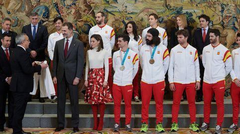 Los Reyes reciben al equipo de los Juegos Olímpicos de PyeongChang