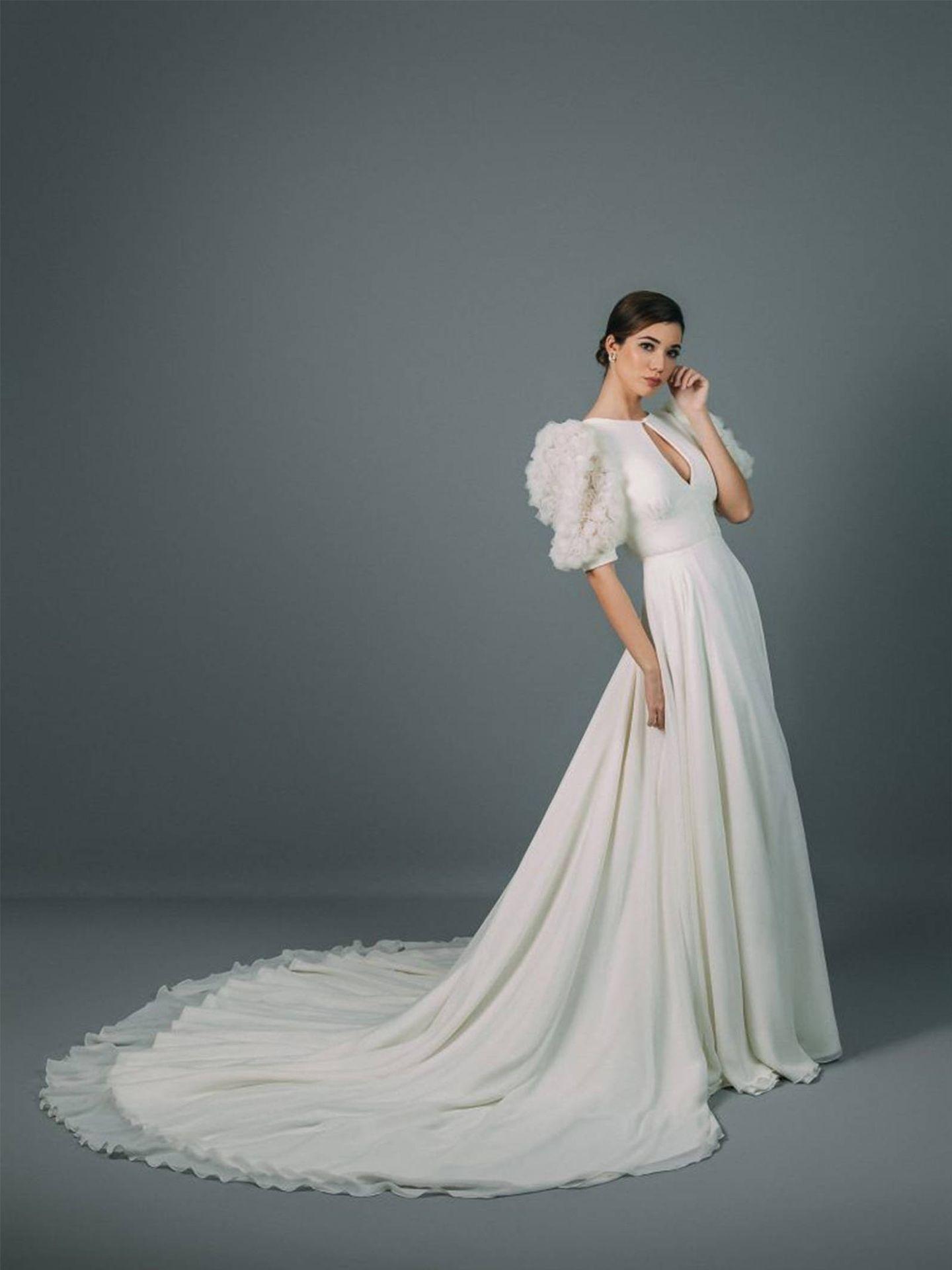 Vestido de novia de Rocío Osorno. (Cortesía)
