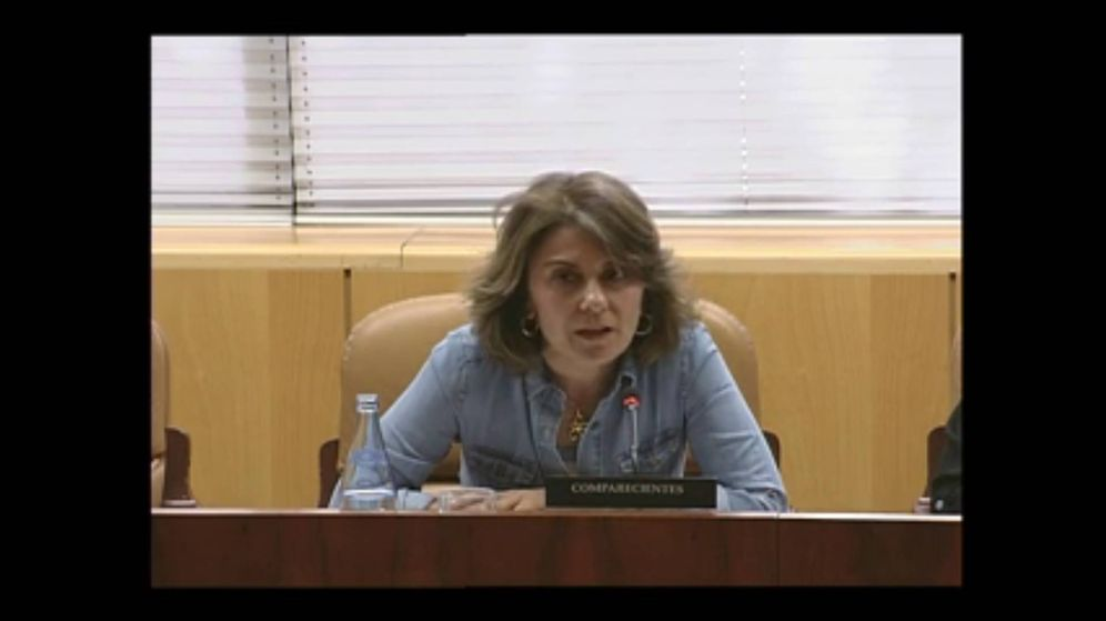 Foto: María Fernanda Richmond, en una intervención en la Asamblea de Madrid.