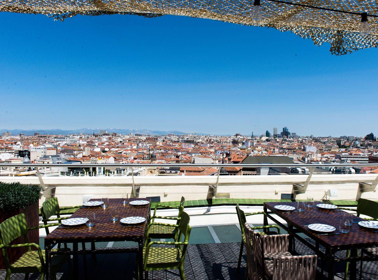 Foto: El restaurante Tartan Roof, en la azotea del Círculo de Bellas Artes de Madrid