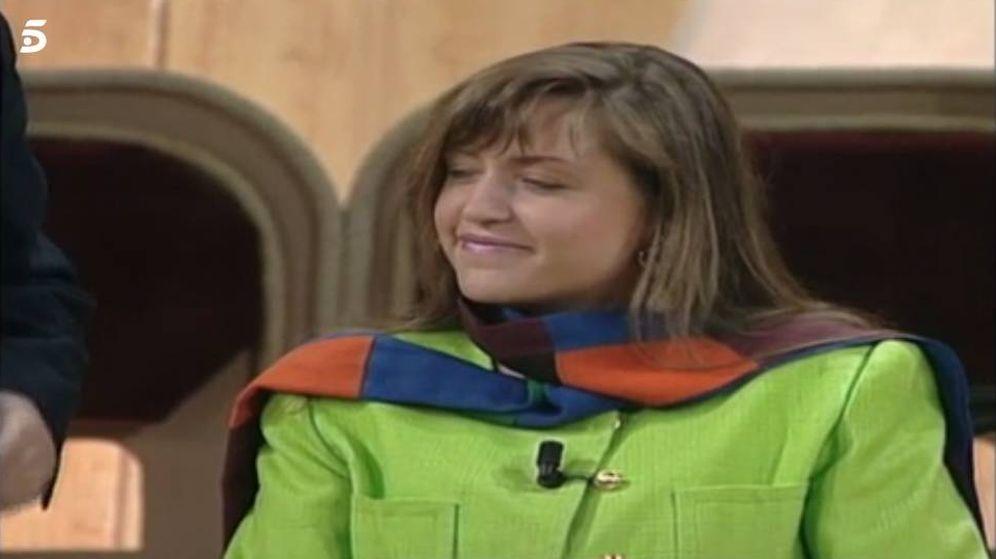 Foto: Lydia Lozano, en su primera intervención en televisión como 'pija'.