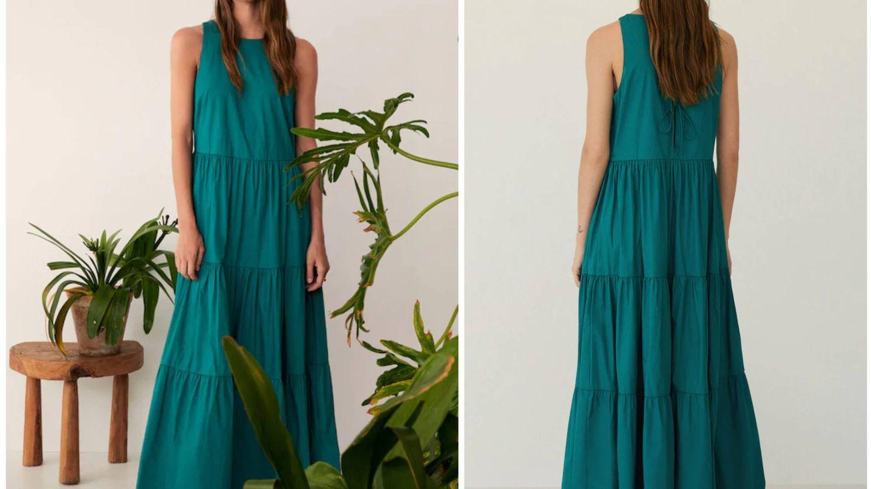 Nuevo vestido verde de Mango. (Cortesía)
