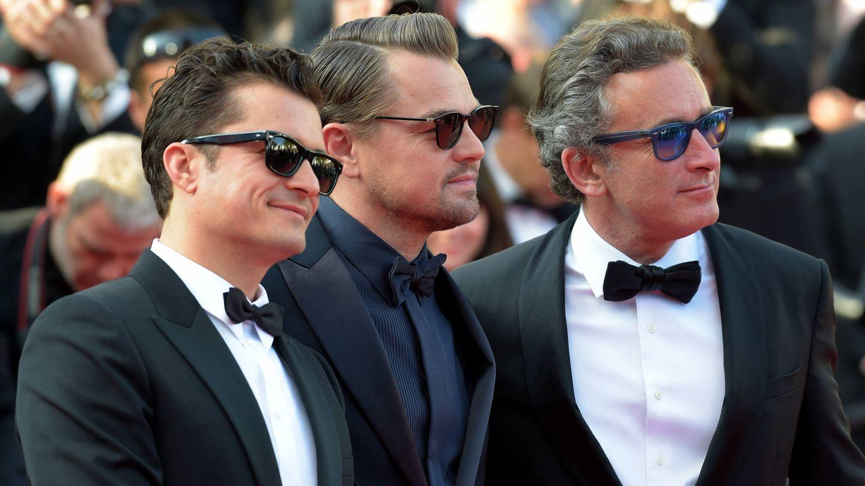 Bloom, DiCaprio y Agag. (Getty)