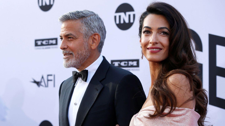 George y Amal Clooney, en una gala de homenaje al actor en Los Ángeles. (Reuters)