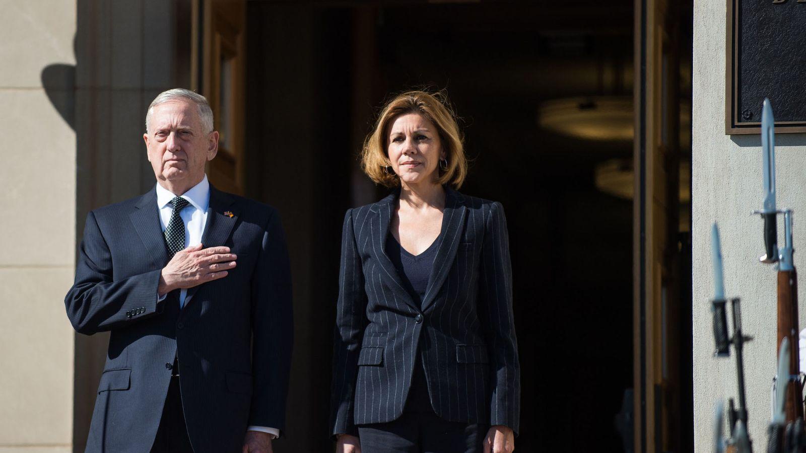 Foto: María Dolores de Cospedal y James Mattis. (EFE)