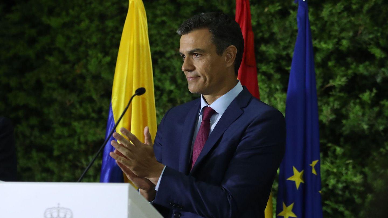 Pedro Sánchez, en Colombia. (EFE)