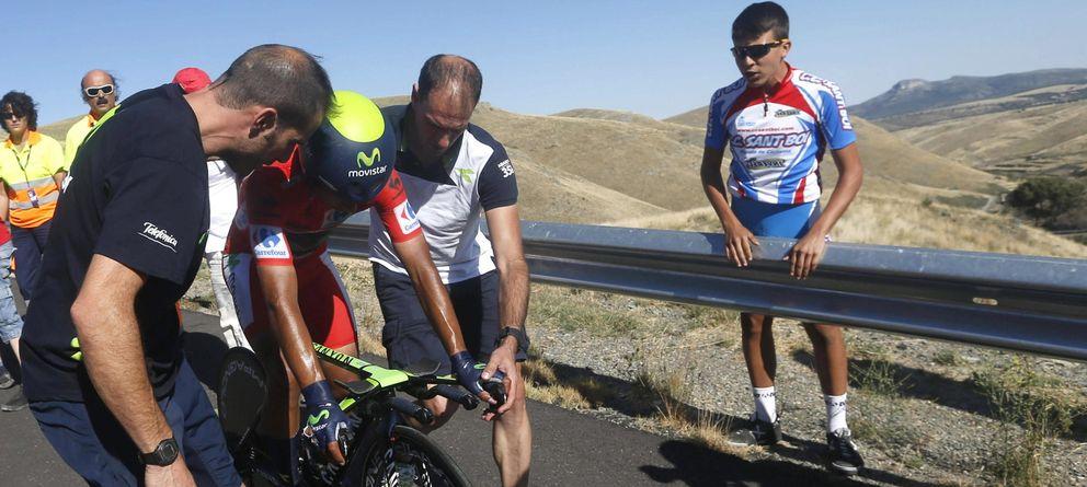 Contador subió al cielo y Quintana bajó al infierno antes de abandonar la Vuelta