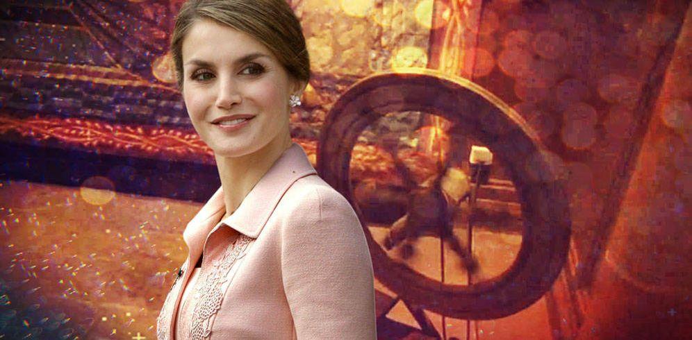 Foto: La reina Letizia en un fotomontaje realizado por Vanitatis.