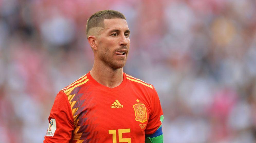 Foto: El capitán Sergio Ramos, durante su participación en el Mundial de Rusia. (EFE)
