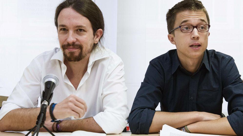 Foto: Pablo Iglesias e Íñigo Errejón durante el Consejo Ciudadano de Podemos celebrado el pasado sábado. (EFE)