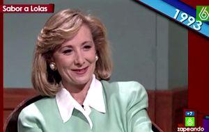 Esperanza Aguirre: de bromear con Wyoming en el 93 a dejar plantado a Évole