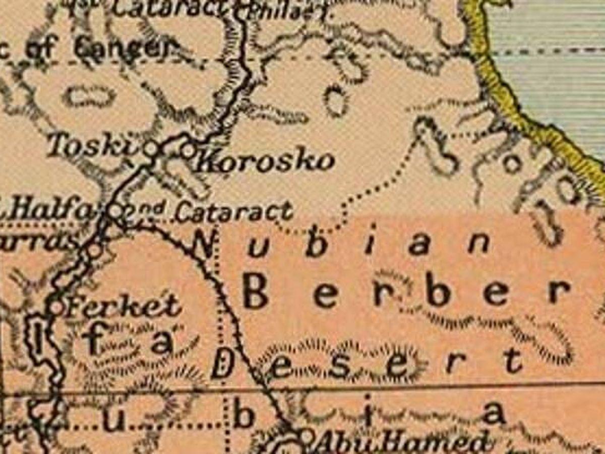 Foto: Mapa del Triángulo de Hala'ib y Bir Tawil en 1912 (Wikimedia)