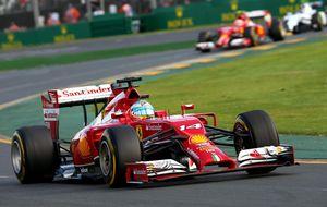 El rojo Ferrari empieza también gris en esta nueva Fórmula 1 de 2014