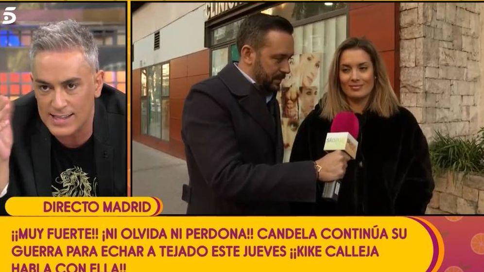 Foto: Candela Acevedo responde a Kiko Hernández en 'Sálvame'. (Mediaset)