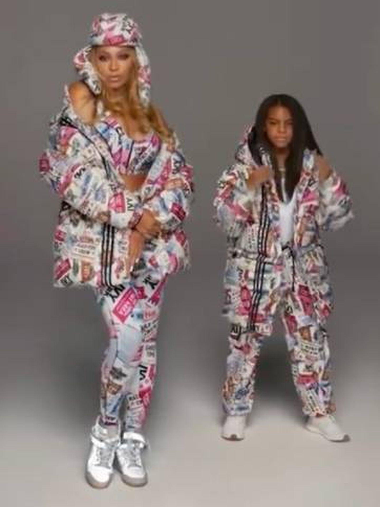 Beyoncé e Ivy Blue. (Adidas)