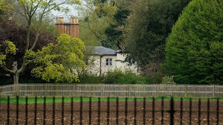 Vista general de Frogmore Cottage, antes de colocarse las nuevas cercas. (Getty)