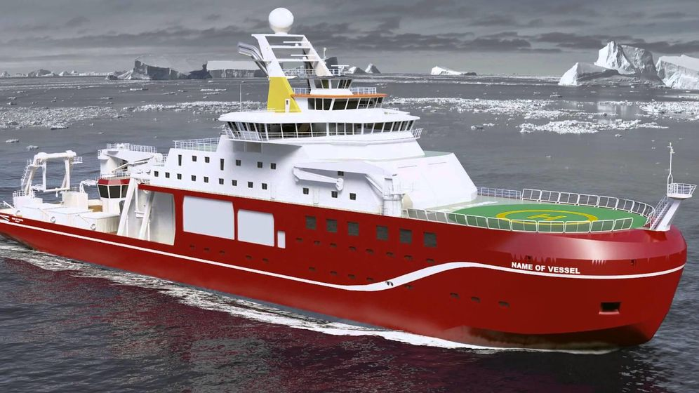 Foto: La armada británica busca nombre para su nuevo barco.