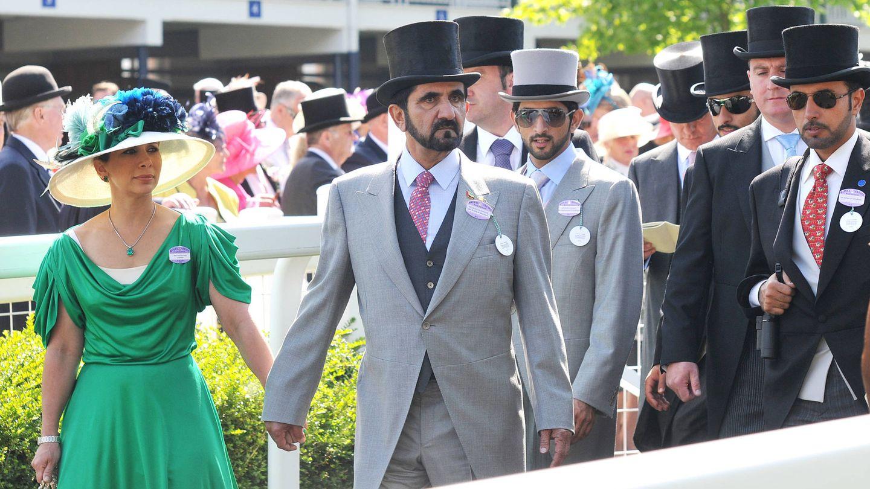 Haya de Jordania y el emir de Dubái. (Getty)