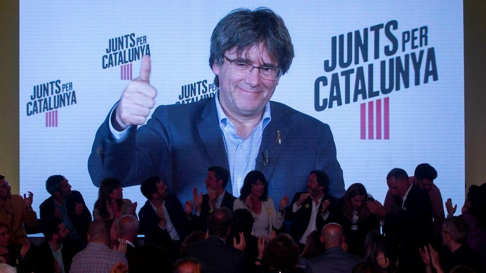 Foto: El expresidente de la Generalitat y cabeza de lista a las elecciones europeas por JxCAT Carles Puigdemont. (EFE)