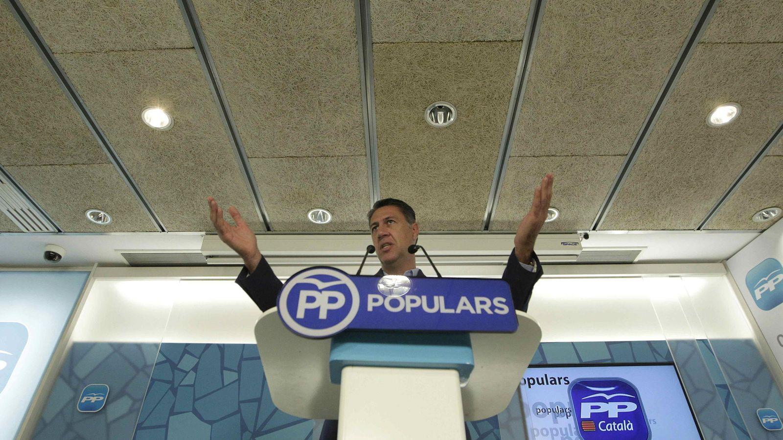 Foto: El líder del PPC en el Parlament, Xavier García Albiol, durante una rueda de prensa ofrecida en Barcelona. (Efe)
