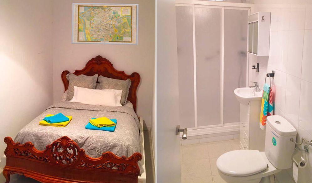 Foto: Una habitación con baño interior en un piso compartido por 200 euros la noche en la calle Hortaleza. (EC)