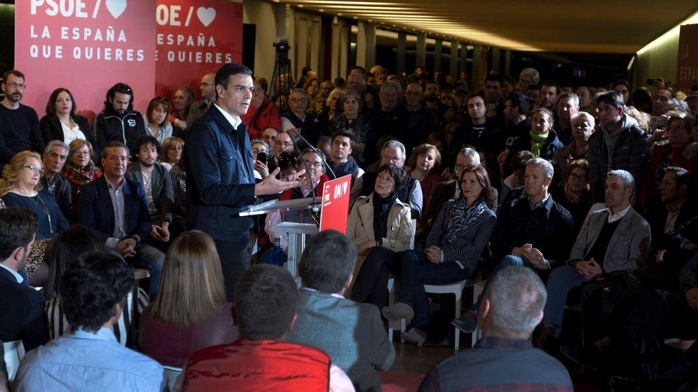 Foto: Pedro Sánchez, en un acto de precampaña. (EFE)