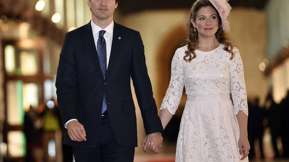 Foto: El primer ministro Trudeau, con su mujer. (Getty)