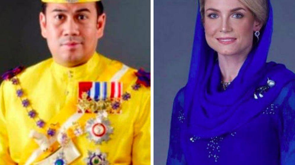 Foto: Fotos oficiales del príncipe Muhammad Faiz de Kelantan y Sofie Louise Johansson. (Redes Sociales)