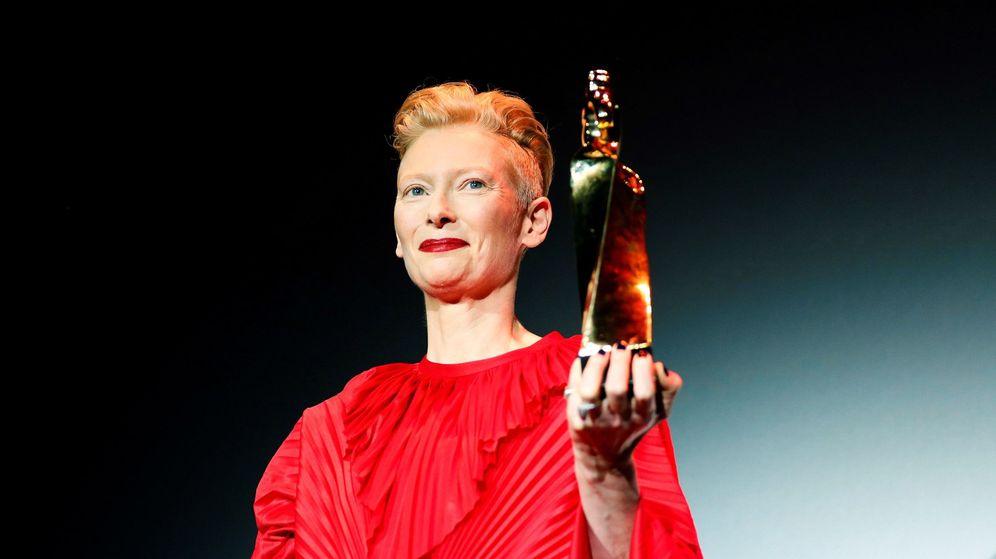 Foto:  La actriz inglesa recibiendo el Gran Premio Honorífico. (EFE)