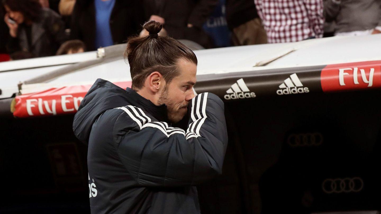 Bale, en el banquillo en el Clásico de Copa. (EFE)