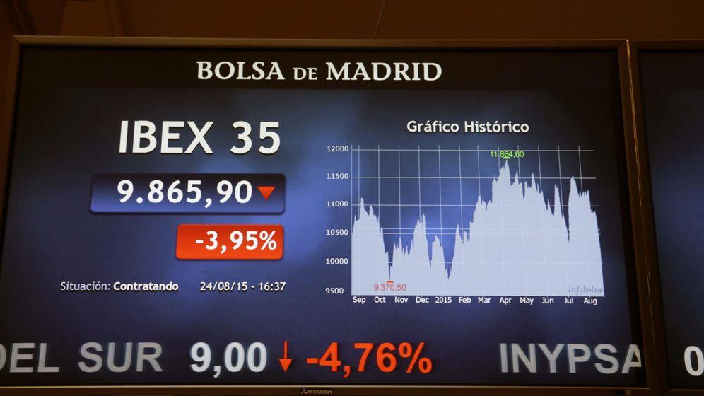 Foto: La bolsa española registra mayor caída en tres años al perder el 5,01%. (EFE)