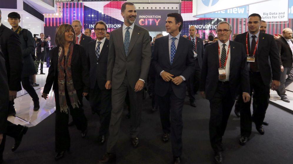Foto: Imagen del Rey durante la inauguración del último Mobile World Congress. (Reuters)