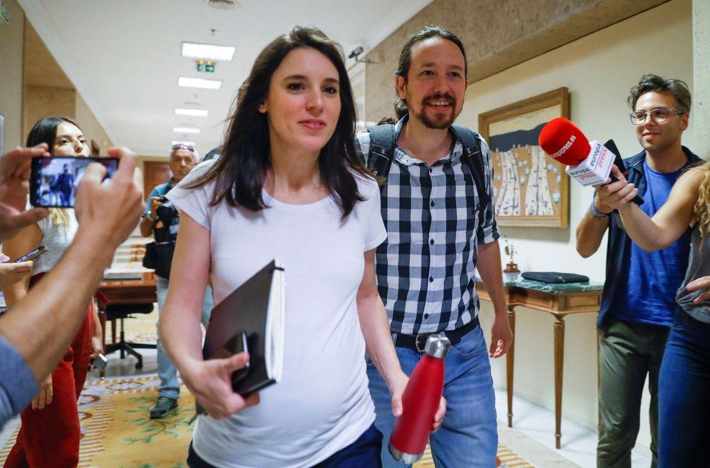 Foto: Pablo Iglesias e Irene Montero, el pasado 5 de julio en el Congreso. (EFE)