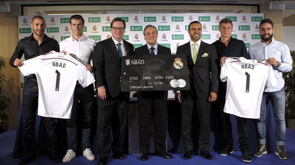 Foto: El Nbad, patrocinador del Real madrid en Emiratos Árabes Unidos (Efe).