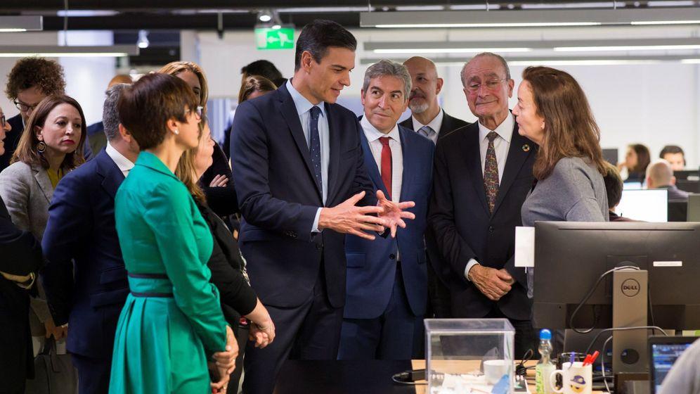 Foto: Pedro Sánchez, en su visita de esta tarde al Parque Tecnológico de Andalucía en Málaga (EFE).