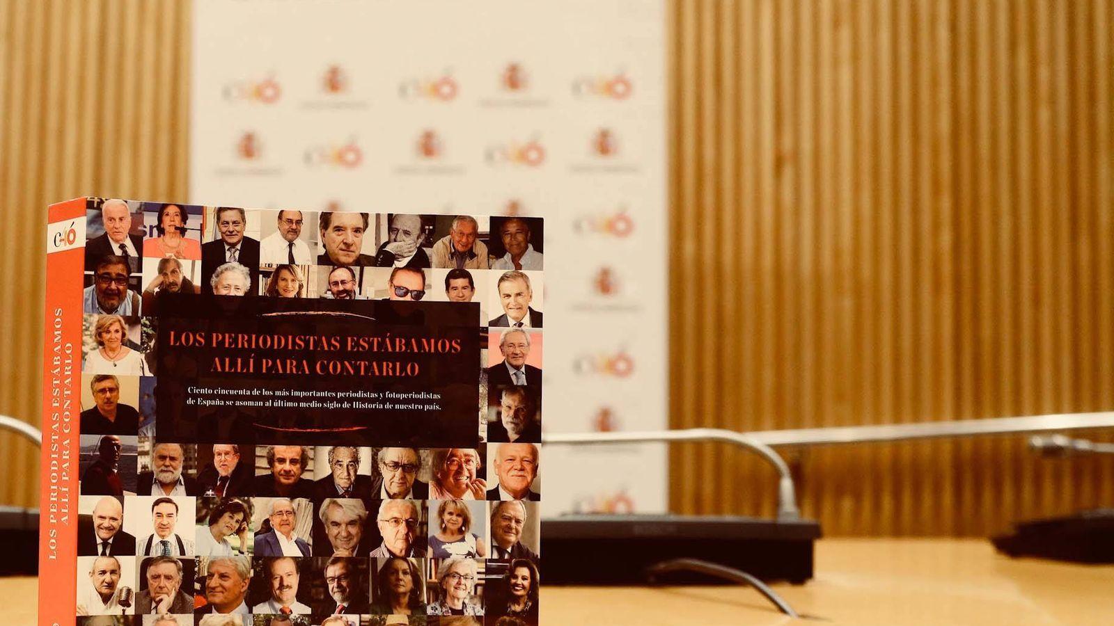 Foto: Presentación del libro 'Los periodistas estábamos allí para contarlo', este 17 de octubre en la Cámara Baja. (Facebook Congreso de los Diputados)