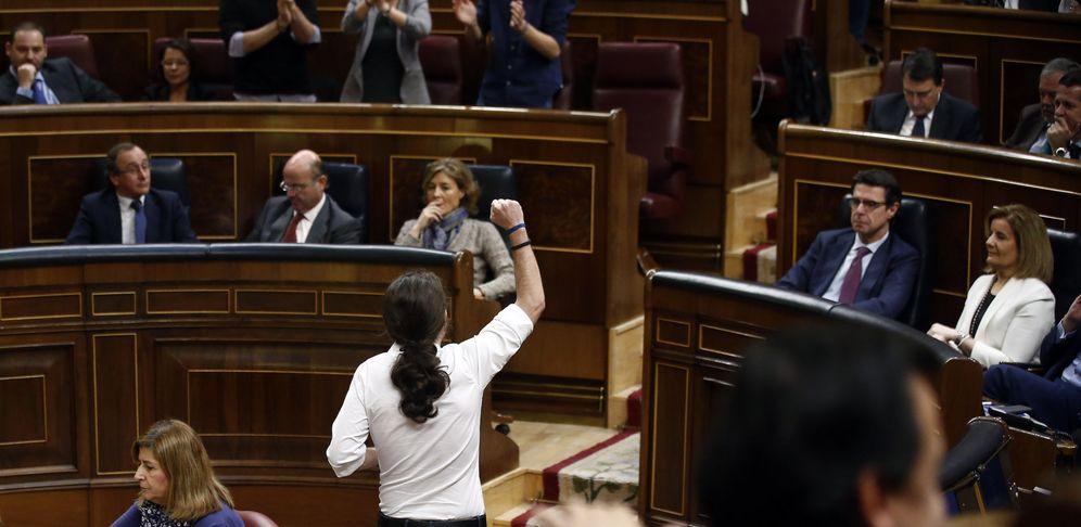 Foto: Pablo Iglesias durante el debate de investidura en Madrid, el 2 de marzo de 2016 (Reuters)