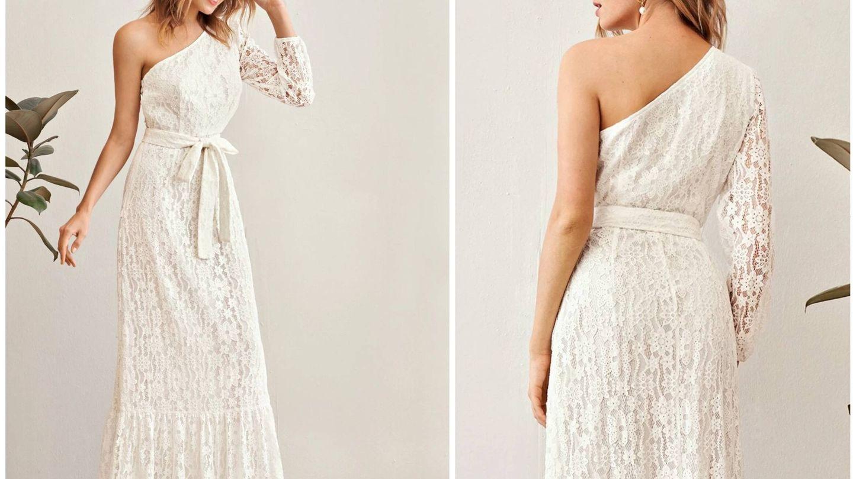 Vestido de novia barato de Shein. (Cortesía)