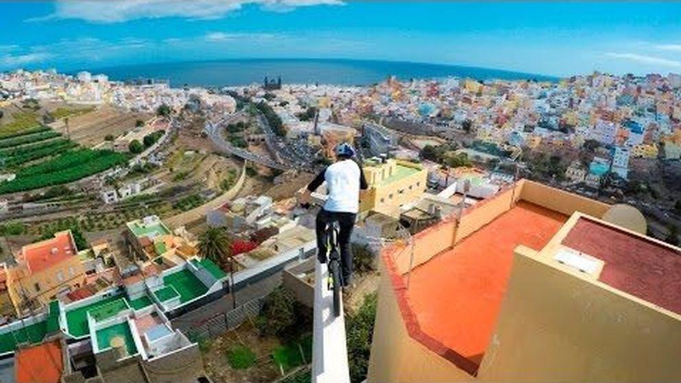 En bicicleta por los tejados de Gran Canaria