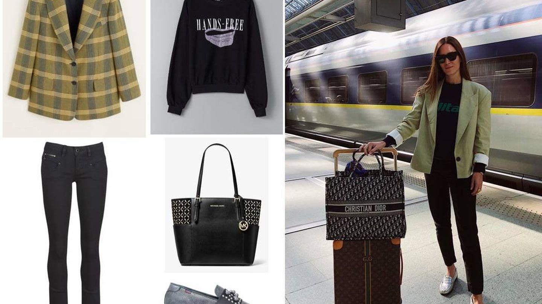 Para tus viajes lleva siempre un gran shopping bag donde meter de todo, como Gala. (Instagram)