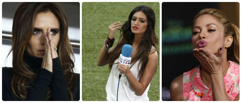 Foto: Victoria Beckham, Sara Carbonero y Shakira. (Reuters)