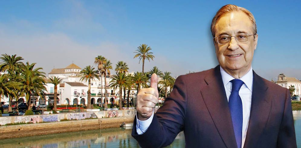 Foto: Florentino Pérez, en un fotomontaje realizado por Vanitatis