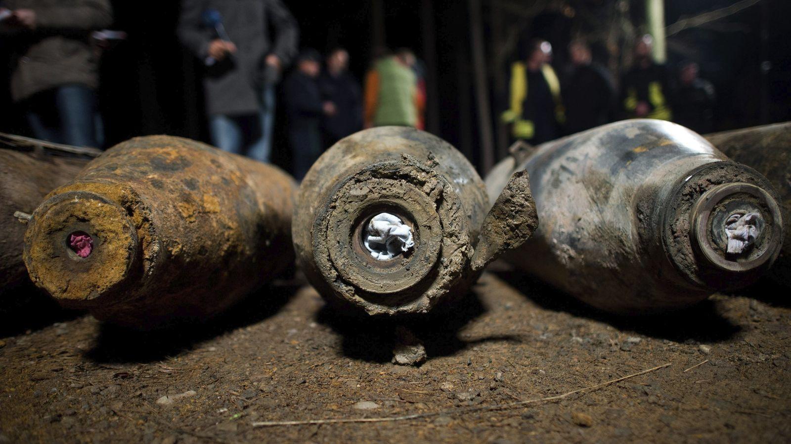 Foto: Foto de archivo de bombas de la Segunda Guerra Mundial (EFE)